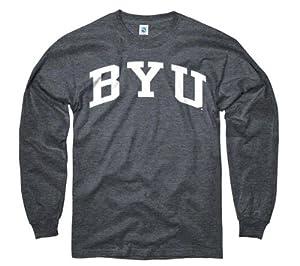 BYU Cougars Dark Heather Arch Long Sleeve T-Shirt by New Agenda