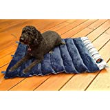 """Portable Dog Bed by Pet Travel Supplies - 36"""" x 24"""" Roll Up Pet Mat - Folding Crate Pad, Camping Bed or Carrier Cushion"""