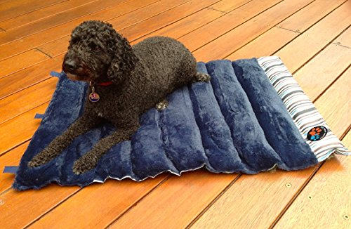 Portable Dog Bed by Pet Travel Supplies- 36″ x 24″ Roll Up Pet Mat – Foldable Camping Bed or as Crate and Carrier Pad – Machine Washable