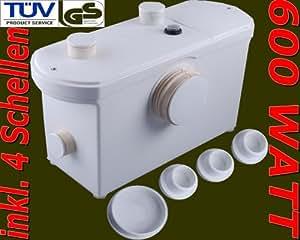 wc hebeanlage 600 w abwasserpumpe toilettenpumpe pumpe k che haushalt. Black Bedroom Furniture Sets. Home Design Ideas