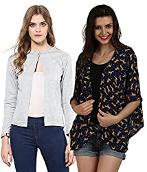 Women's Cotton,Georgette Shrugs(Pack of 2)