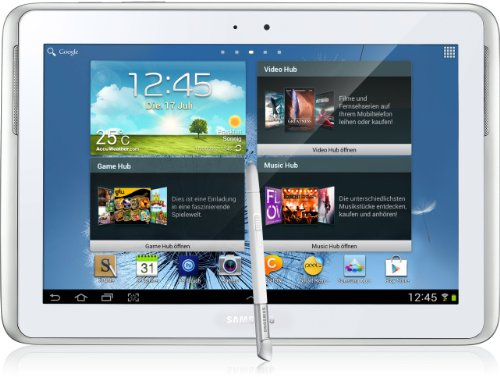 Samsung Galaxy Note 10.1 GT-N8010ZWADBT Tablet 25.7 cm (10.1 Pollici), Wi-Fi Only, Quad-Core, 1,4 GHz, Memoria Interna 16 GB, Fotocamera 5 Megapixel, Android 4.0, Colore Bianco