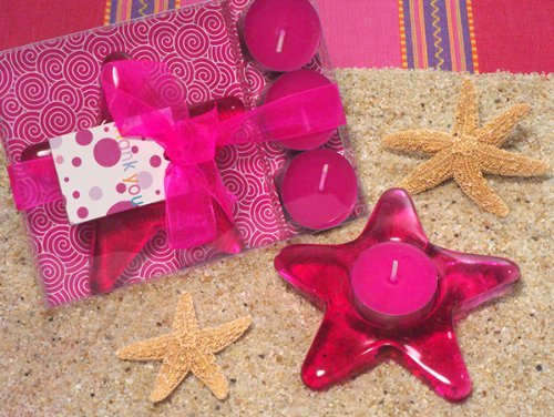 Glass Starfish Candle Holder (Set of 18) - Wedding Favors