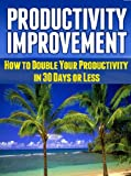 Productivity Improvement: How to Double Your Productivity in 30 Days or Less (Productivity Improvement,  Productivity)