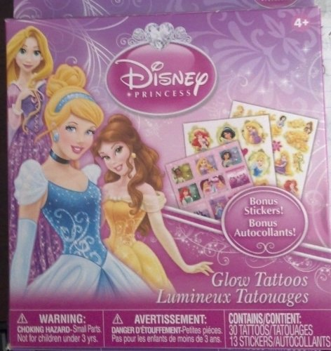 Disney Princess Glow Tattoos