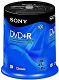 Sony DVD+R 4.7 GB Recordable Storage Spindle - 100 Disc