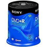 Sony DVD+R 4.7 GB Recordable Storage Spindle - 100 Disc (Discontinued by Manufacturer) ~ Sony