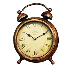 30cm Vintage French Style Old Fashioned Alarm Clock Shape
