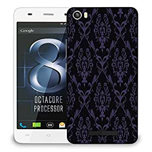 Snoogg Purple Pattern Designer Protective Phone Back Case Cover For LAVA IRIS X8