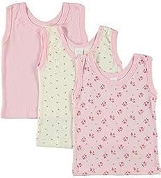 BIG OSHI Baby 3 Pack Sleeveless Undershirt Tank - PLK-804 - Pink, 12-18 Months