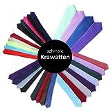 Schmale Krawatte 5 cm - von Hand gefertigt und mehrere Farben