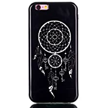 buy Komgia Iphone 6G/6S 4.7[Inch] Case,Tpu Rubber Soft Back Cover Case,[Black Style] Ultra Slim Thin Silicon Gel Soft Cover Case For Iphone 6G/6S (Windbells)