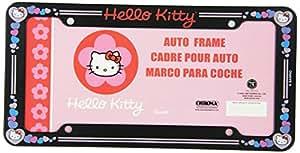 Amazon Com Hello Kitty Glitter License Plate Frame Made