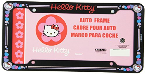 Hello Kitty Glitter License Plate Frame (Made of Plastic)