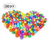 Accguan 100pcs Colorful Ball Fun Ball Soft Plastic Ocean Ball Baby Kid Toy Swim Pit Toy (Color: Black)