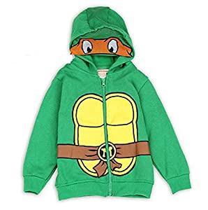Nickelodeon Teenage Mutant Ninja Turtles Boys Toddler 2t-4t Hoodie Jacket Visor (3t)
