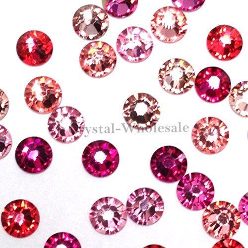 Swarovski 2058 SS20 (4.7mm) crystal flatbacks No-Hotfix rhinestones PINK Colors Mix (Hotfix Swarovski Crystals Ss20 compare prices)