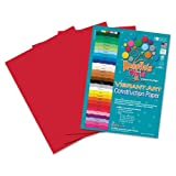 Roselle 9x12 Vibrant Construction Paper, 50 count, Holiday Red (CON8891250)