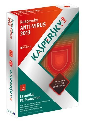 Downloadable code for Kaspersky Anti Virus 2013 1 PC, 1 Year License DLC - GET IT FAST!