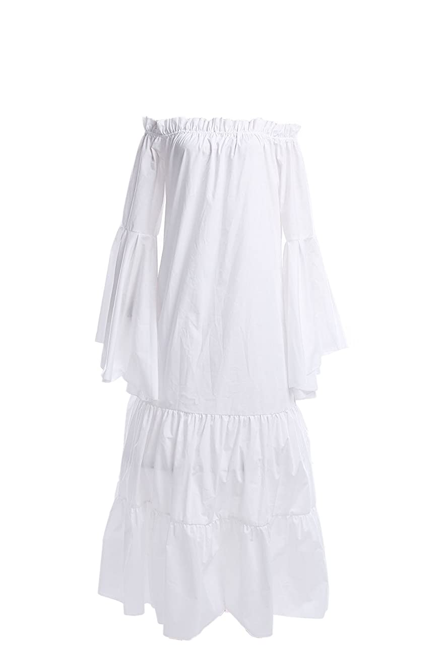 Ladies Vintage Design Nightdress White Romantic Classic Princess Nightgown 0