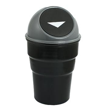 Universal Black Car Mini Trash Rubbish Bin Can Garbage Dust Case Storage Hold LD