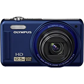 Olympus VR-320 228130 14 MP Digital Camera with Super-Wide 12.5x Zoom and 3.0-Inch LCD (Blue)