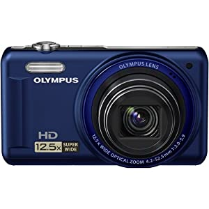"""Olympus VR-320  14 MP Digital Camera with 12.5x Optical Zoom and 3"""" LCD (Blue) (Old Model)"""