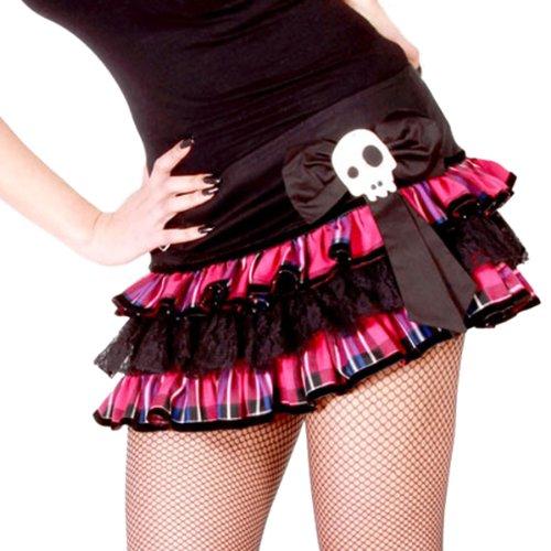 Hell Bunny Bad Girl Tartan Micro Mini Skirt Pink - Sizes 6 8 10 12 14