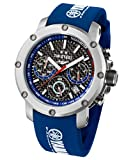 TW Steel Yamaha Factory Chronograph Racing Blue Silicone Mens Watch TW924