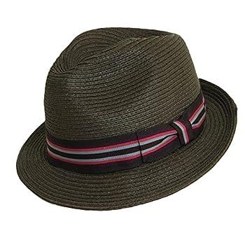 Paper braid fedora hat