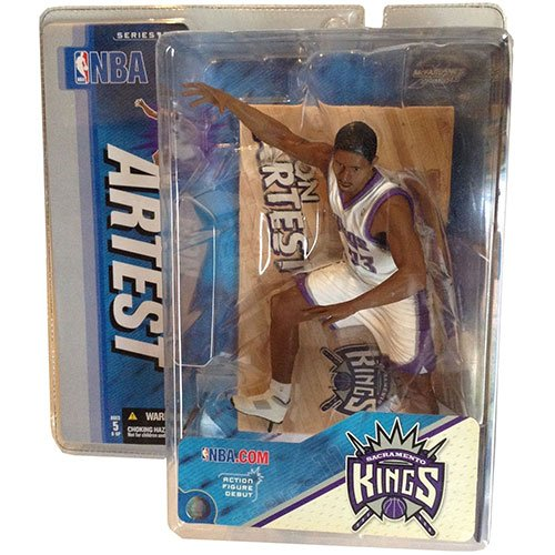 "McFarlane Toys 6"" NBA Series 11 - Ron Artest White Jersey - 1"