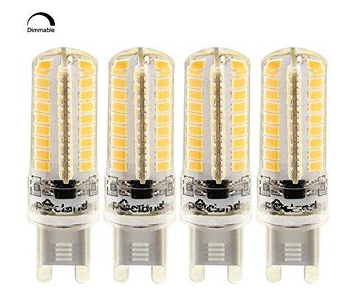 Best To Buy® Set di 6LED G96.5Watt 220-240V AC/DC 72x 2835SMD bianco caldo dimmerabile, forma rotonda, a + + 180°
