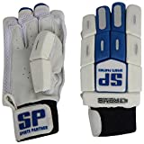 SP Sports Panther Xtreme Unisex Leather And PU Batting Gloves Boys White