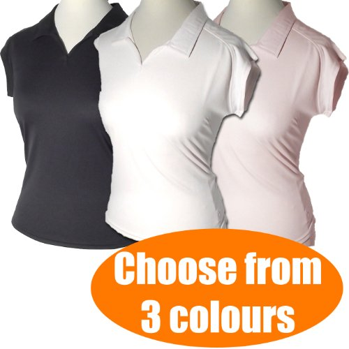 Ladies Sports Gym Tops Polo Shirts Size 10 12 14 16 Running Womens T M L