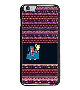 PrintDhaba Funny image D-5054 Back Case Cover for APPLE IPHONE 6 (Multi-Coloured)
