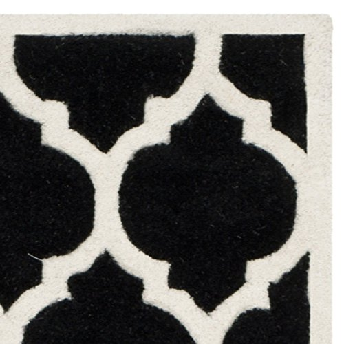 Safavieh Chatham Collection CHT734K Handmade Black and Ivory Wool Runner, 2 feet 3 inches by 9 feet (2'3