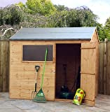 8 x 6 Shiplap Reverse Apex Shed, garden shed, storage, wooden store from Buttercup Farm