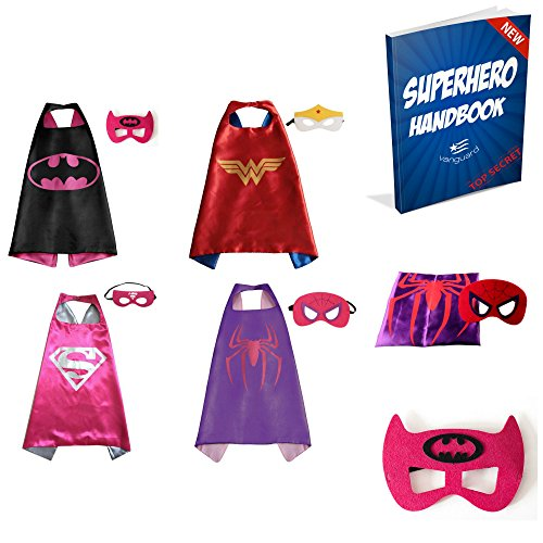 Vanguard Superhero Girl Cape and Mask