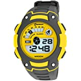 Unisex Boy And Girl With Alarm Stopwatch Chronograph Digital Silicone Sport Wrist Watch MR-8016051-4