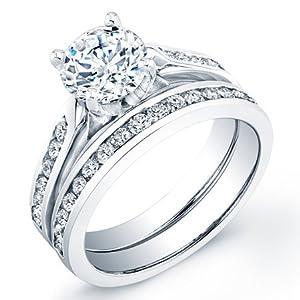 certified 2.00 ct princess cut diamond wedding engagement anniversary bridal ring set band
