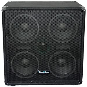 Seismic Audio - 4x8 Bass Guitar Speaker Cabinet PA DJ 500 Watts 4 8 with horn by Seismic Audio Speakers, Inc.