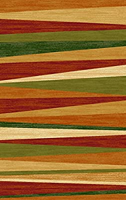 Multicolor Stripes Garden Sunset Anti-Bacterial Rubber Area Rugs Non-Skid
