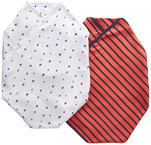 Carter's 2 pk Swaddle Blankets- Red Navy Boats