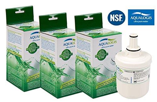 Filtro Acqua per Frigorifero compatibile per Samsung Aqua Pure Plus da EcoAqua Confezione da 3