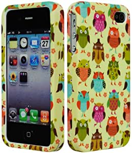 Bastex Colorful Cute Owl Character Hard Case for Apple iPhone 4, 4s