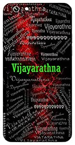 Vijayarathna (Significant Among Victorious) Name & Sign Printed All over customize & Personalized!! Protective back cover for your Smart Phone : Samsung Galaxy E-7