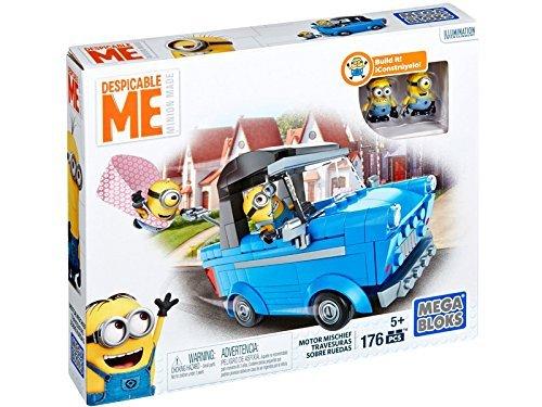 MEGA-BLOKS-Despicable-Me-2-MINIONS-MOTOR-MISCHIEF-mega-block-Kaito-glue-and-minion-Boss-minion-motor-mischief-parallel-import-goods