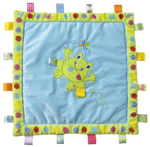 Taggies Cozy Blanket, Spotty Frog front-3389