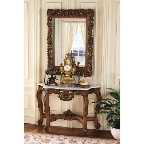 Cheap 45″ Royal Baroque Mirror and Marble-Topped Console Table (XoticBrands) (KS94119)