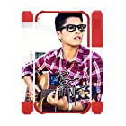 Bruno Mars with Guitar Case Fits Iphone 4 4S Cover(3D) Snap-On Protector for Apple I Phone